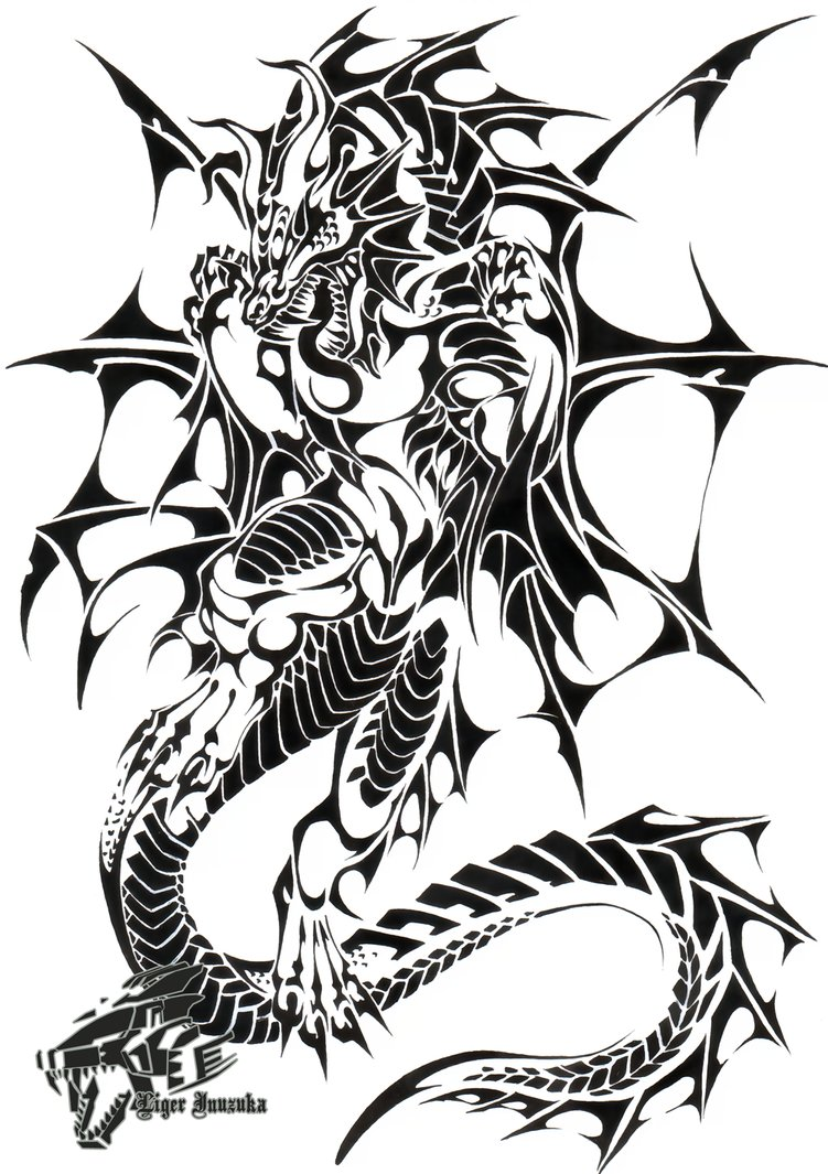 Commish: Sea Dragon Tribal - ClipArt Best - ClipArt Best