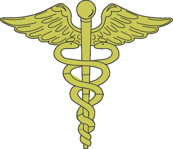 Caduceus Symbol Clip Art Gold Caduceus Clip Art