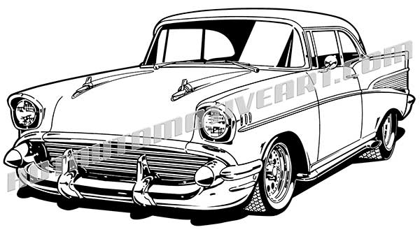 57 chevy clipart