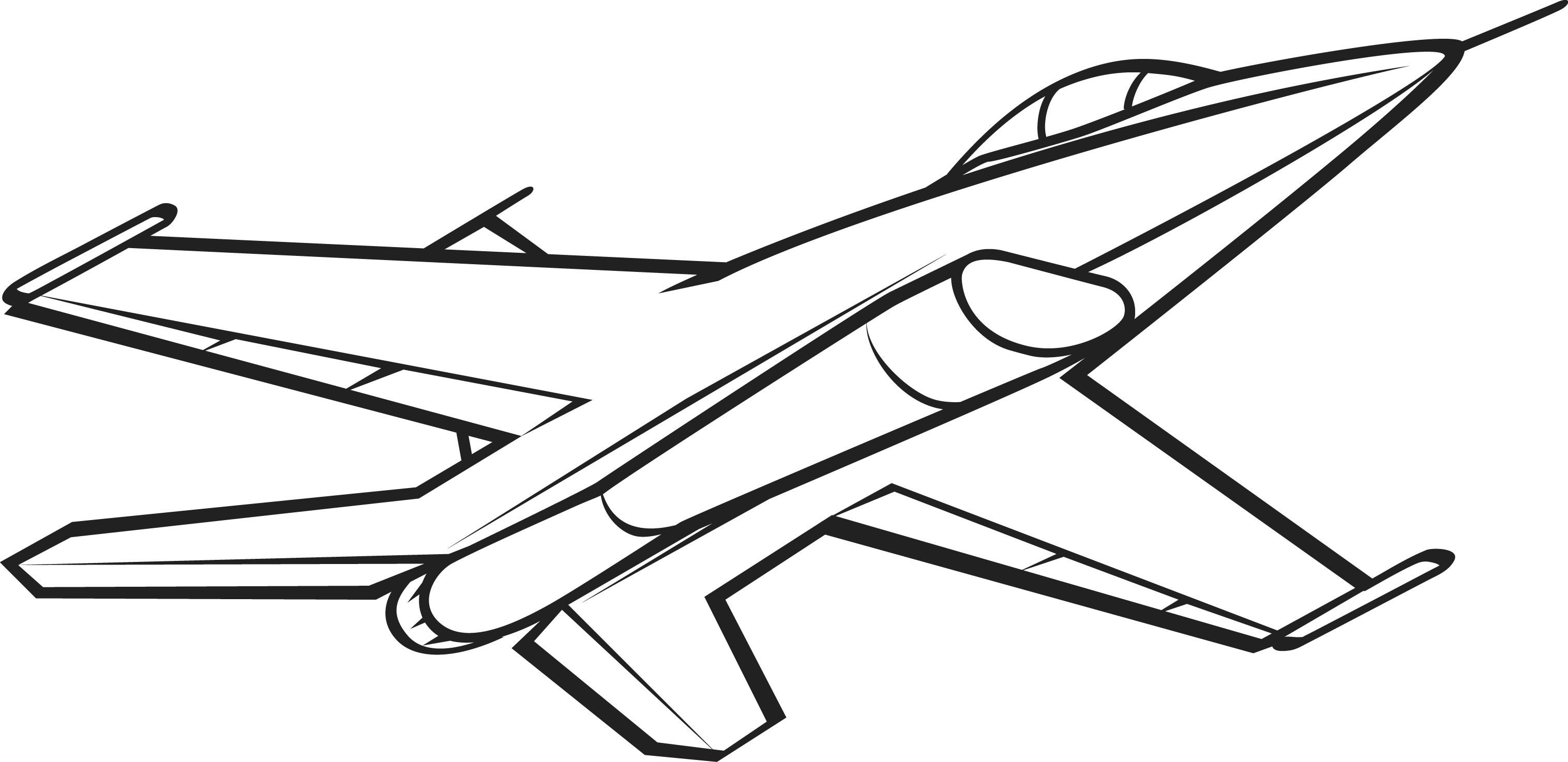 Military plane clipart black and white png