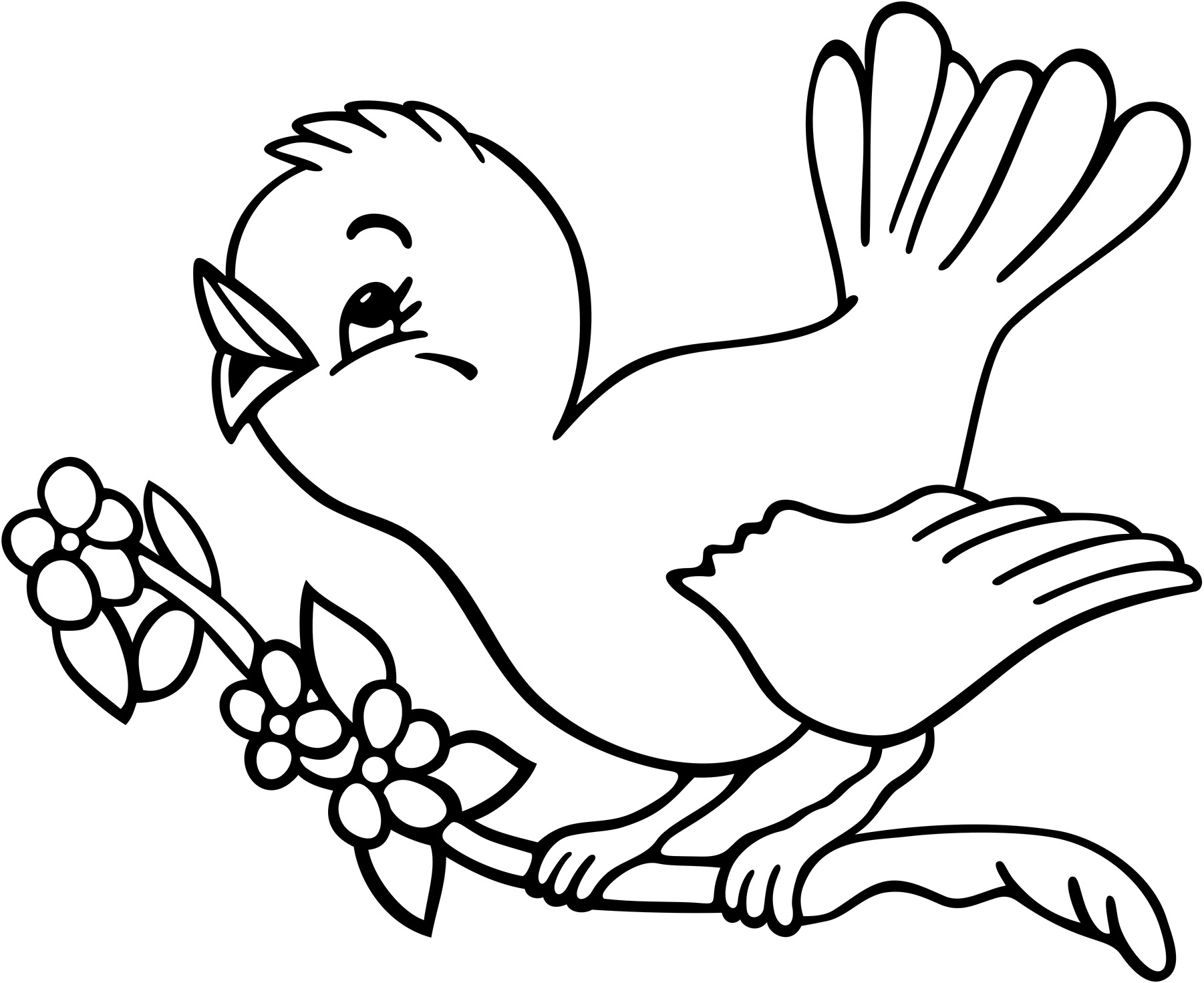coloring book bird pages - photo#6