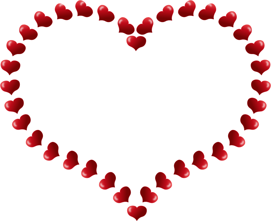 valentine red heart shaped border with little ... - ClipArt Best ...