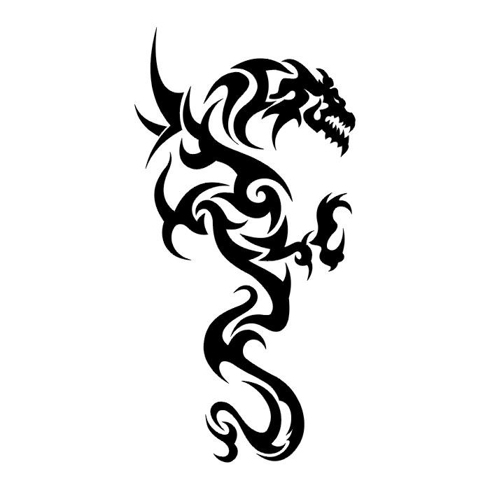 Black Tattoo Flash Design