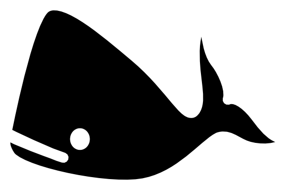 Cartoon whale black and white - photo#27