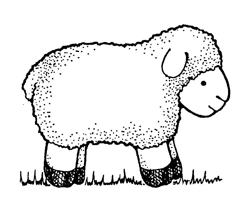 Go Back > Ga... Lamb Black And White Clipart