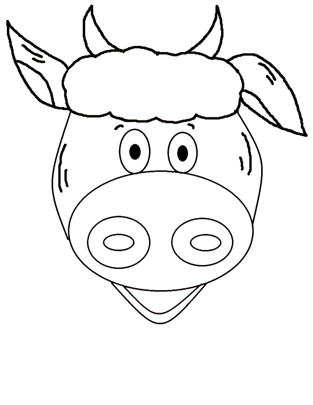 Free Coloring Pages Of Cow Spots
