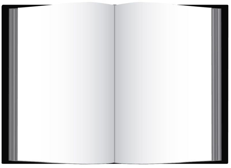 clipart open book blank pages - photo #7