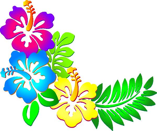 Luau Flowers Clip Art Borders Free - ClipArt Best