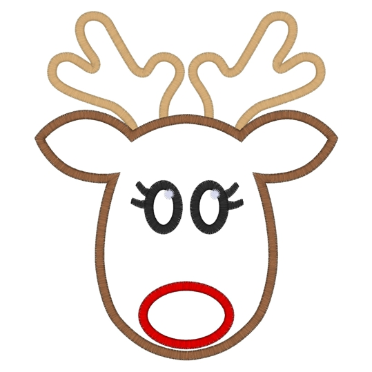 This is a photo of Invaluable Printable Reindeer Face