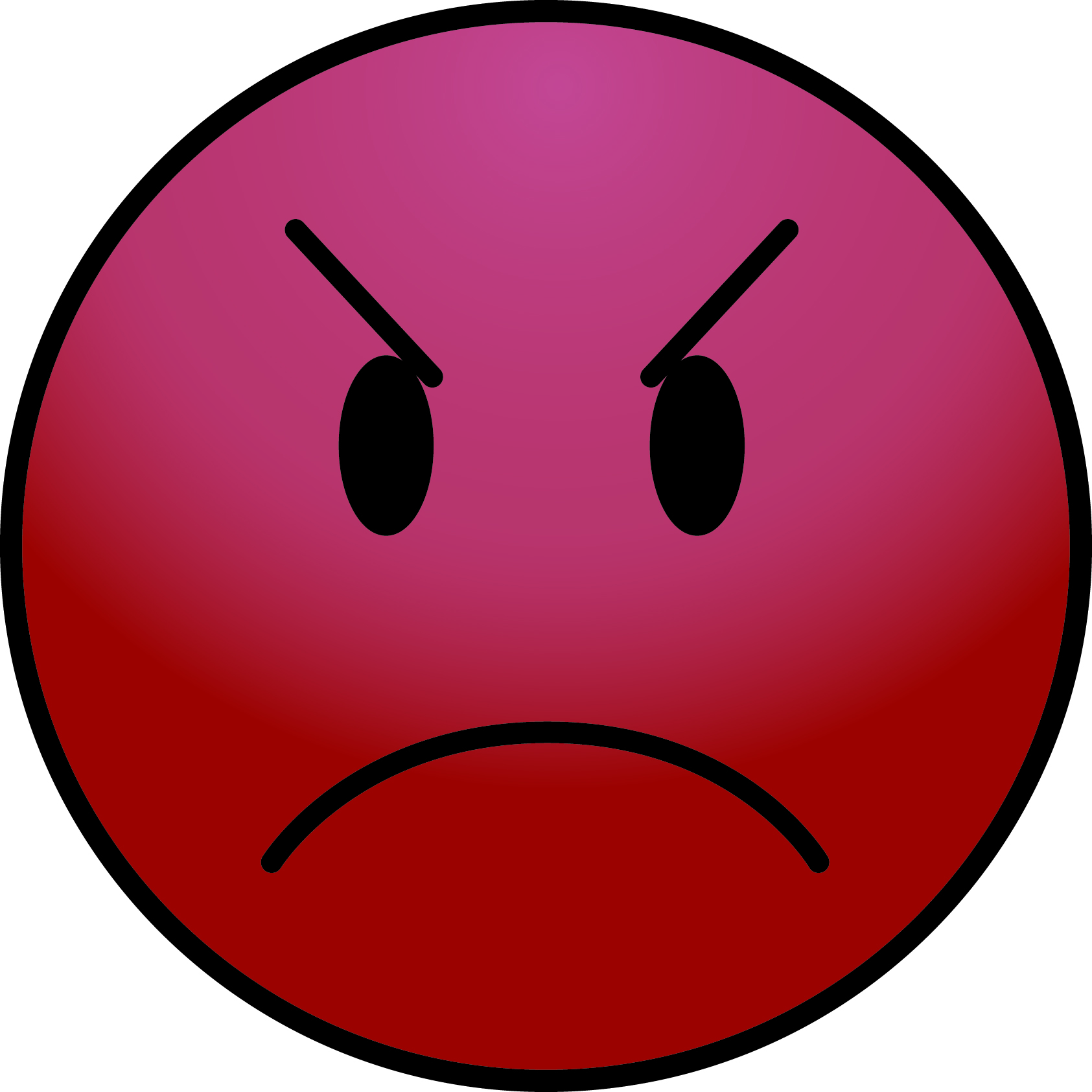 Red Angry Emoticon - ClipArt Best
