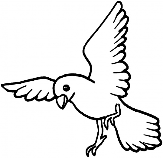 Flying Bird Coloring Pages - ClipArt Best