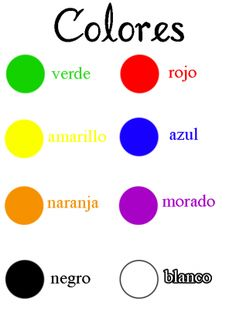 Spanish Colours Worksheet - ClipArt Best