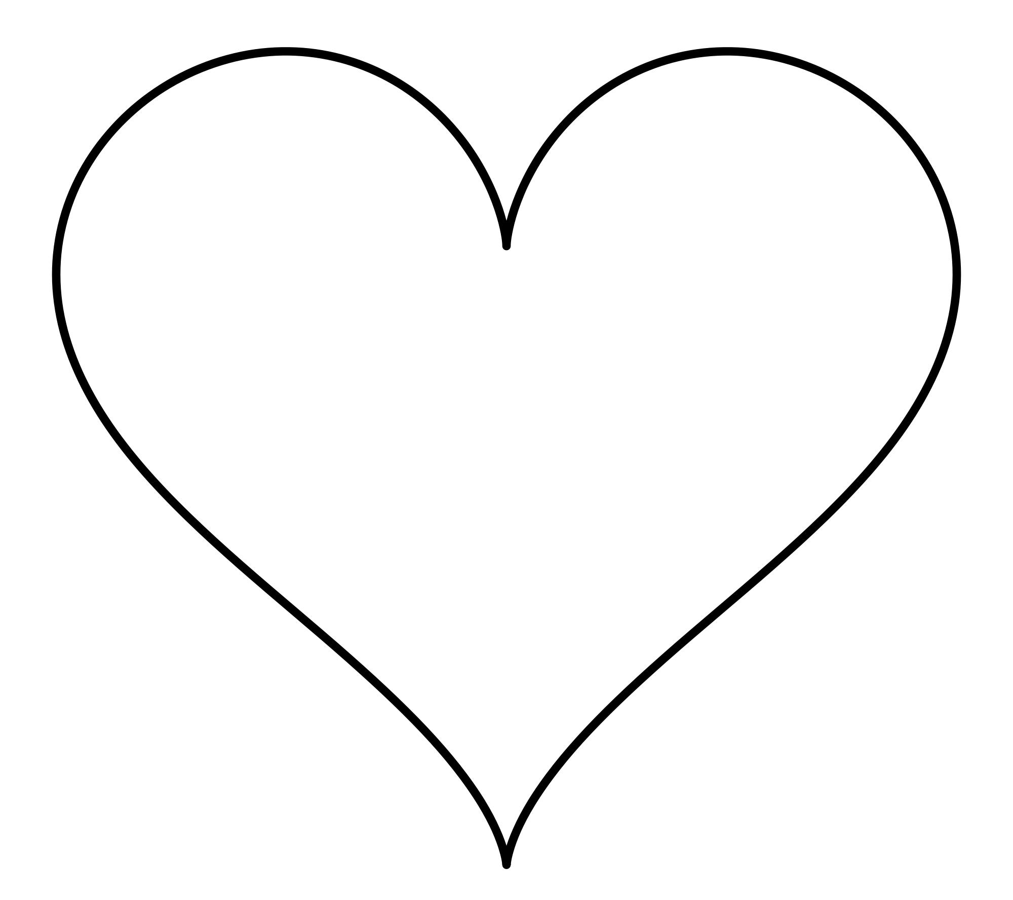 Clip Art Heart Shape Clipart heart shape pdf clipart best shapes pictures