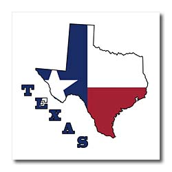 Texas state flag in the outline map and letters of Texas. Iron on ...