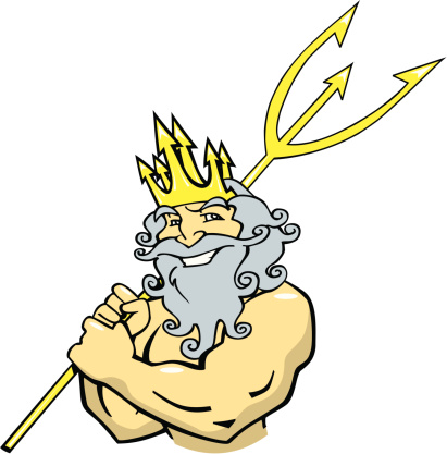 God Neptune Cartoon Clip Art, Vector Images & Illustrations