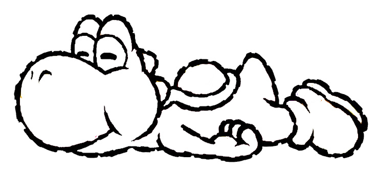 Black And White Yoshi Pictures Clipart Best
