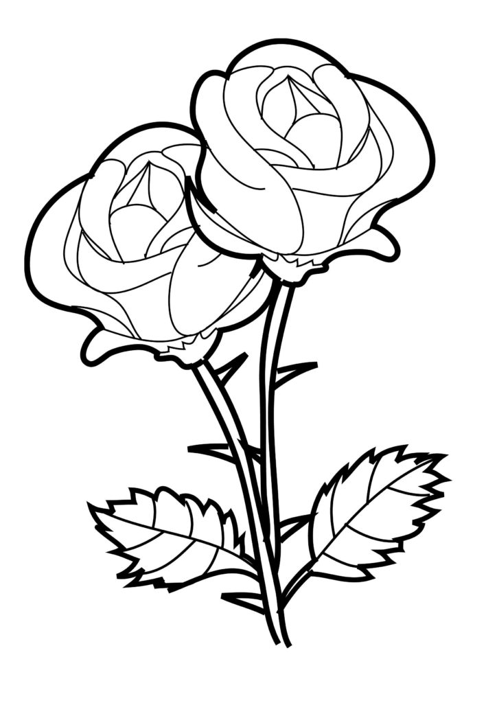 Free Printable Rose With Thorns
