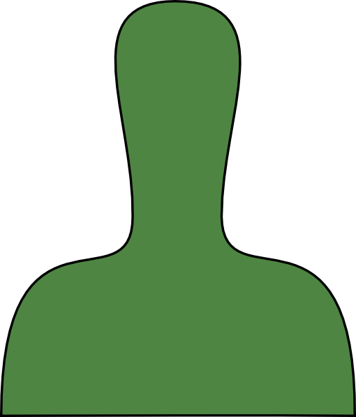 Green Person Silhouette Outline clip art - vector clip art online ...