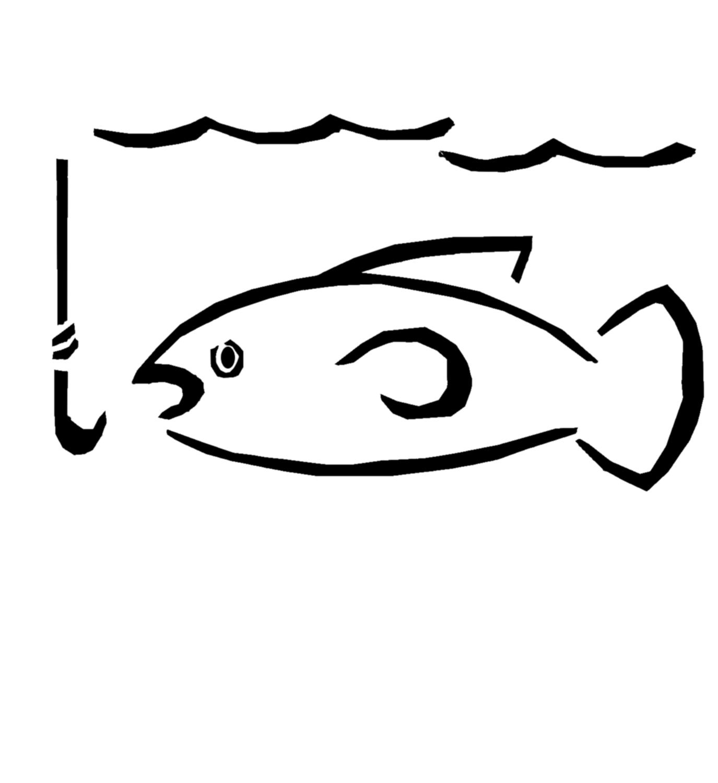 fish hook clip art clipart best