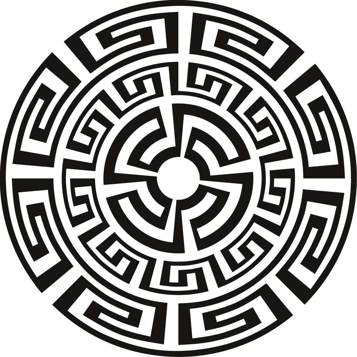 Aztec Pattern Around The World Wall Art Sticker Wall Decal ...