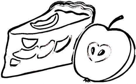 Apple Pie Coloring Page Super Coloring Clipart Best Clipart Best