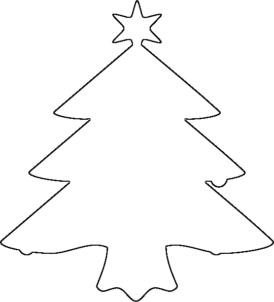 christmas tree outline coloring pages - photo#7