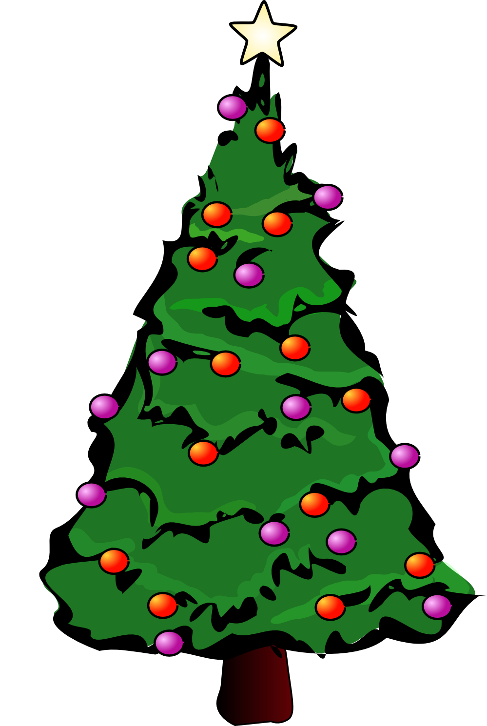 Cartoon Picture Of Christmas Tree - ClipArt Best