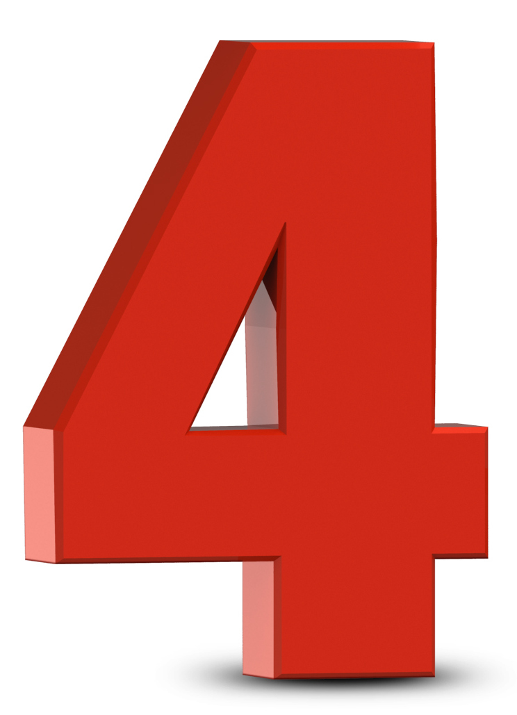 Picture Of The Number 4 - ClipArt Best