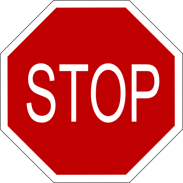 Stop Sign clip art Free Vector
