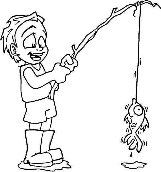 Fishing Pole Coloring Page Clipart Best Coloring Pages Pole