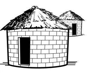 how to draw a hut easily