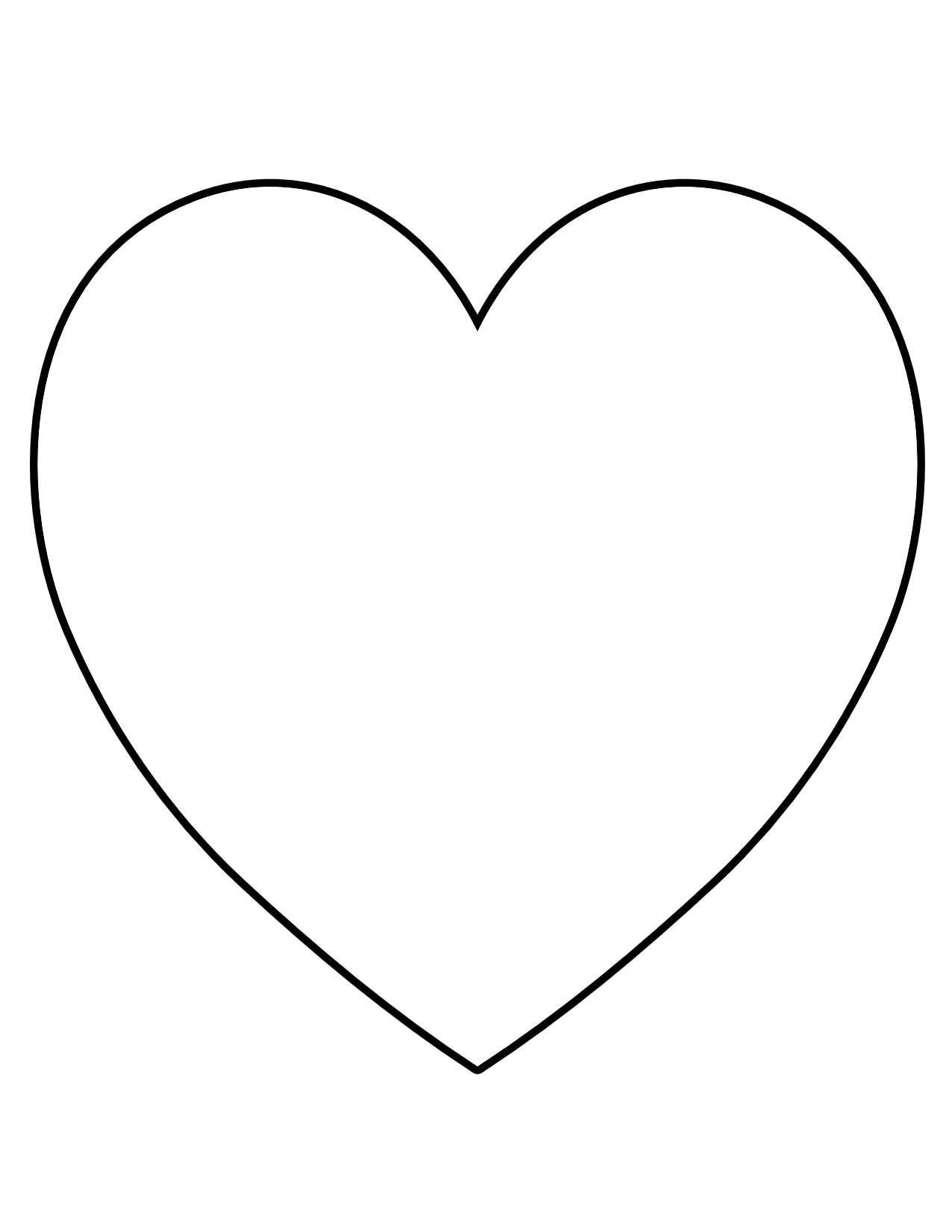 Heart Shaped Template Free - ClipArt Best