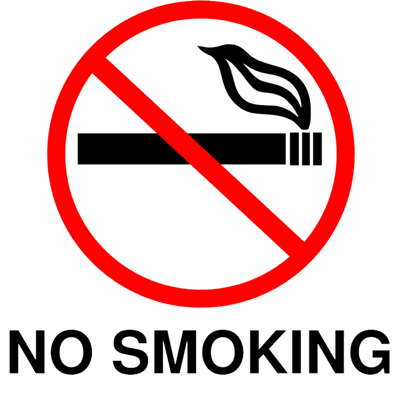 Punchy image with free printable no smoking signs