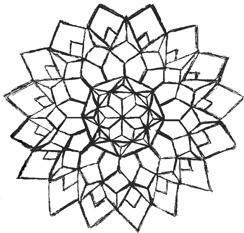 Easy Flower Design Coloring Page