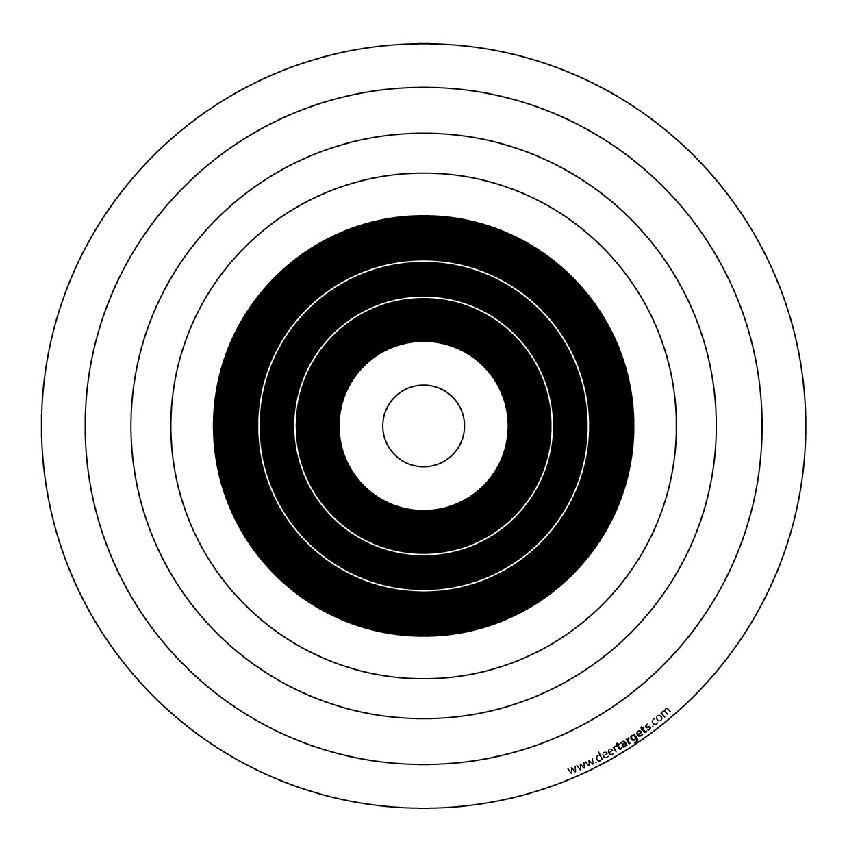 photograph about Printable Bullseye Target known as Bullseye Plans Printable - ClipArt Least difficult
