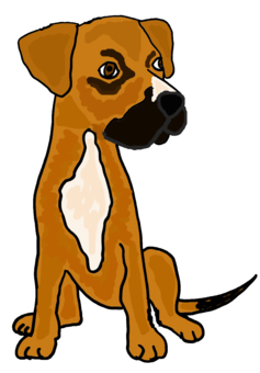 Funny Boxer Mix Puppy Dog Cartoon design by naturesfun, Animals t ...