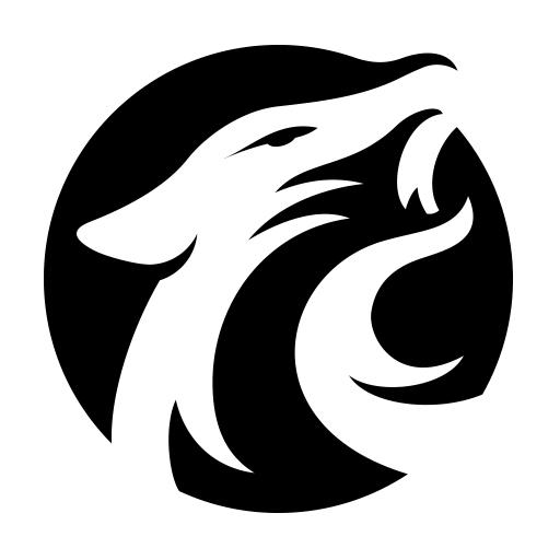 logos for gt white wolf logo clipart best clipart best