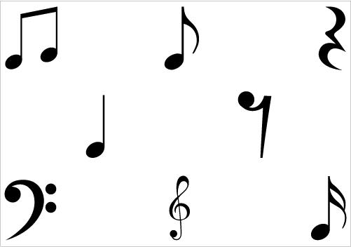 Musical Notes Symbols Clip Art - ClipArt Best