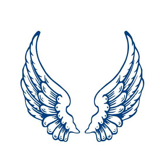 Selective image regarding printable angel wings