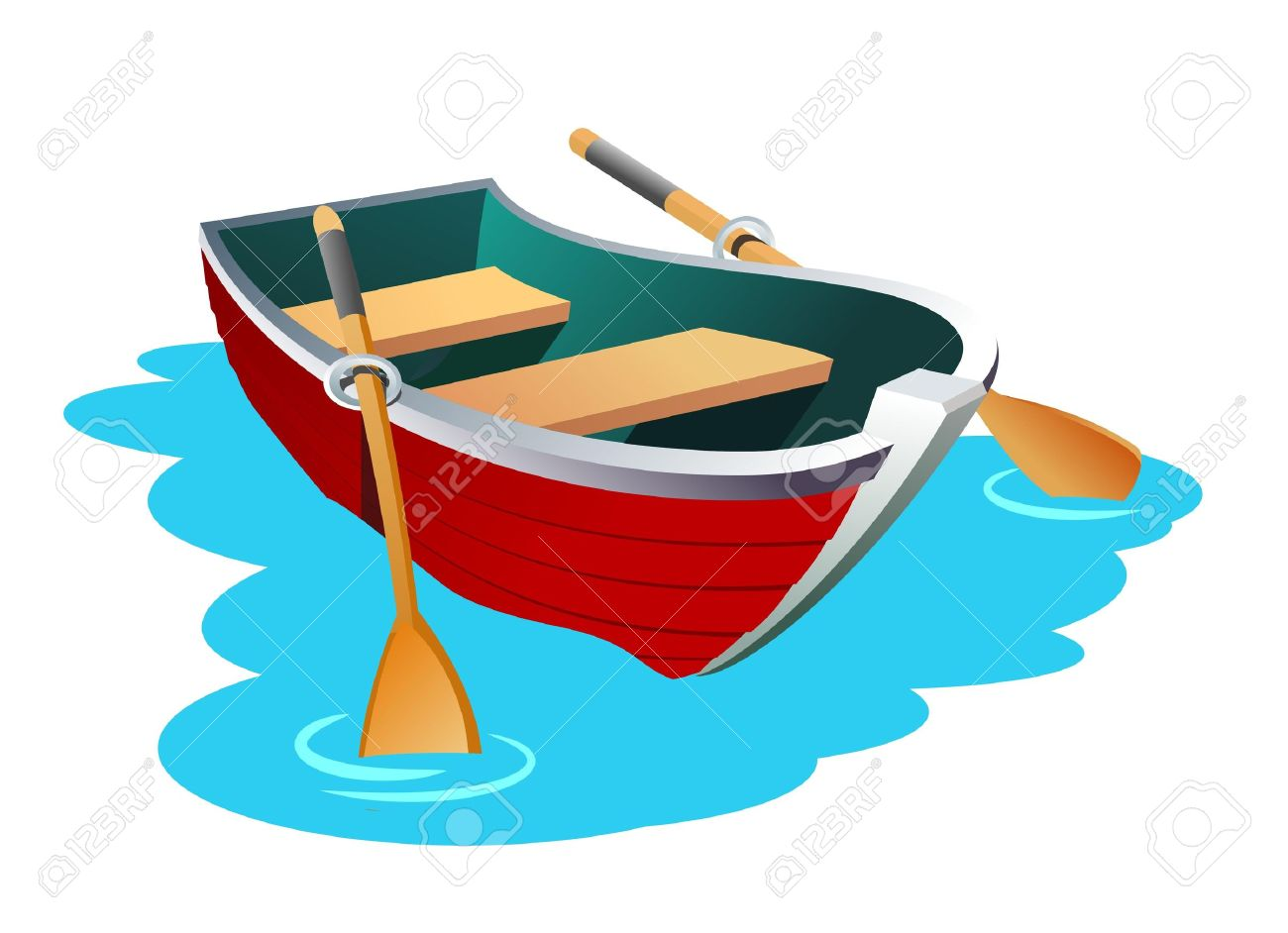 free clip art rowboat - photo #13