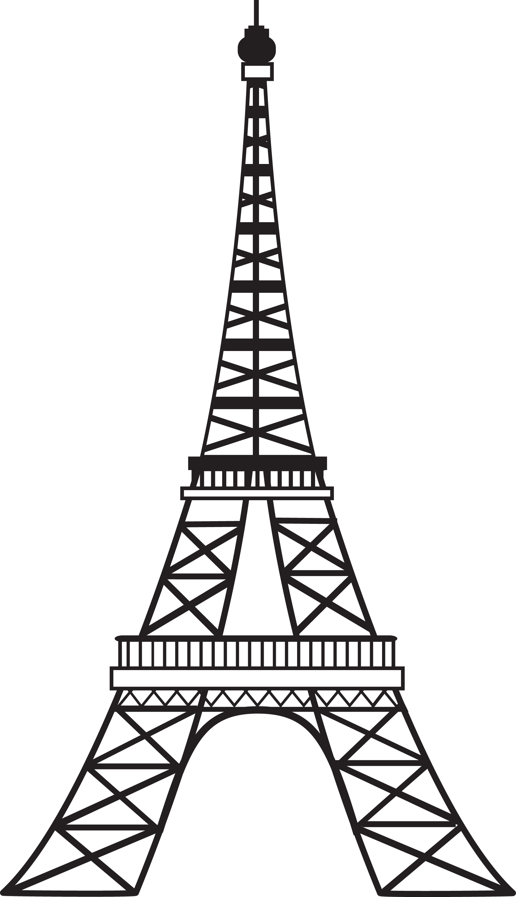 Eiffel Tower Line Drawing.PNG - ClipArt Best