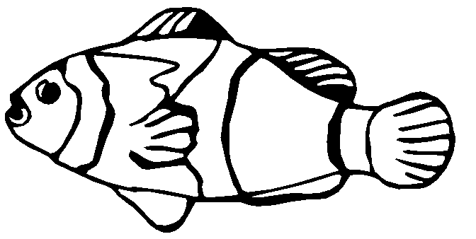 Free Fish Coloring Pages Clipart, 1 page of Public Domain Clip Art