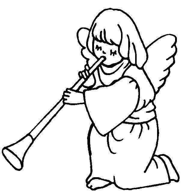 angel outline clip art clipart best