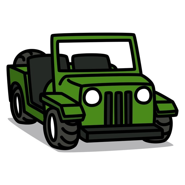Army Jeep Cartoon