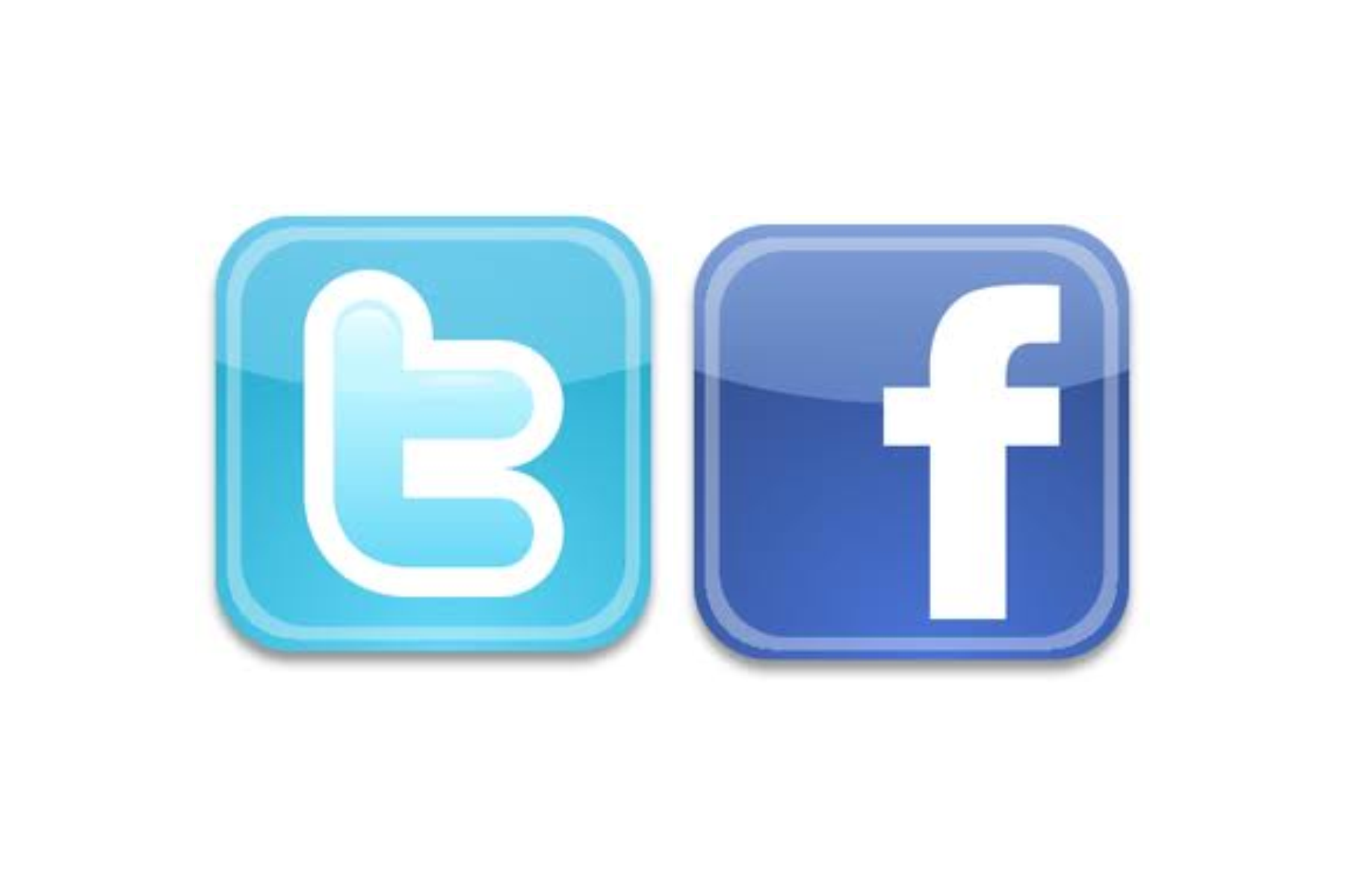twitter and facebook logo clipart best