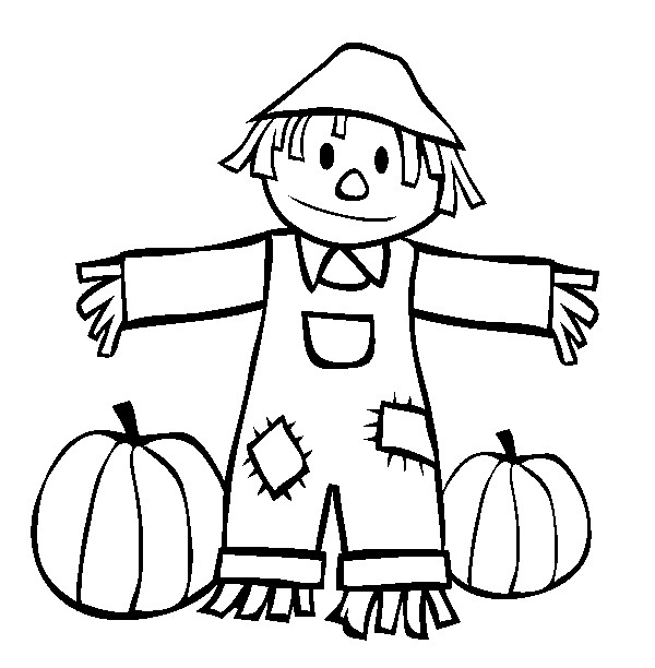 Drawings Of A Cute Scarecrows - ClipArt Best