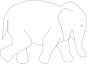 Elephant Line Drawing Clipart Best