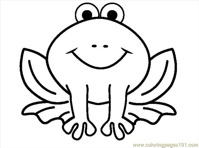 Outline Of Cartoon Frog - ClipArt Best