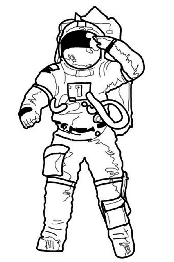 astronaut suit coloring sheet - photo #35