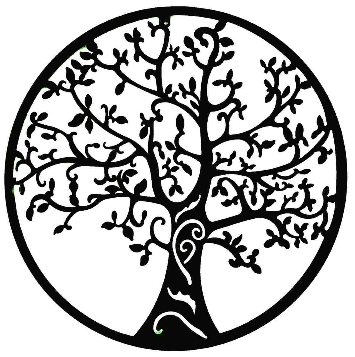 Tree Of Life Clip Art Black And White simple black and white...